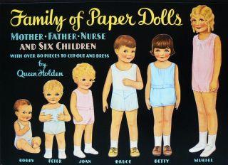 Family of Paper Dolls Queen Holden