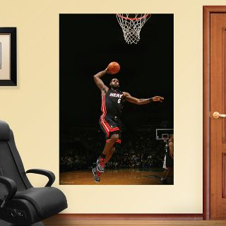 Fathead NBA Lebron James Miami Heat Mural Full Size Free US Shipping