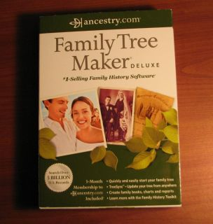 Family Tree Maker 2012 Deluxe PC Genealogy History Software *Updated