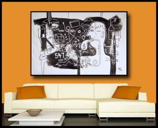 52 Huge Contemporary Black and White Art Painting