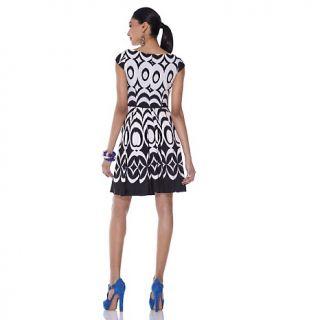 taylor cap sleeve ikat print dress d 00010101000000~167551_alt1