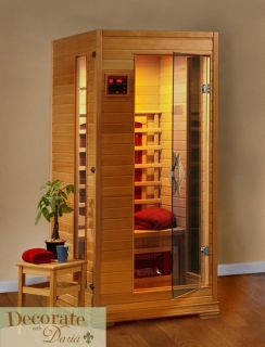 Person Sauna Far Infrared Heat 3 Ceramic Heaters Hemlock CD Player