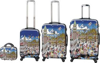 Fazzino Heys Veneziana Venice Carnevale City 4 piece Luggage Heys Set