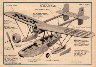 28 Sikorsky Amphibian Model Plane Plans s 38 Original