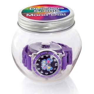 189 120 grape scented purple jelly band butterfly dial mood watch note