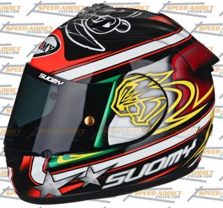 Suomy Excel 2012 BIAGGI Pirate Full Face Motorcycle Helmet x Small