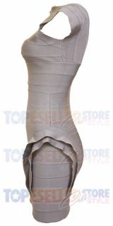 Eva Longoria Grey Lace Up Bodycon Bandage Dress s M L Cocktail