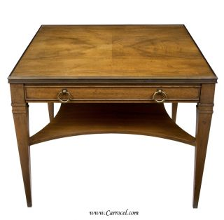 Antique Square Top Neoclassic End Table by Baker Furniture