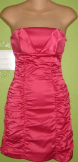 NEW WETSEAL FOREVER 21 PAPAYA EVENING COCKTAIL RUCHED PINK TUBE TOP
