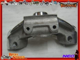 NEW HIGH QUALITY SILVER FINISH TRAILS FORK TOP YOKE FOR ROYAL ENFIELD
