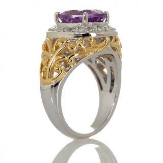 Jewelry Rings Gemstone Victoria Wieck 2.98ct Amethyst White Topaz