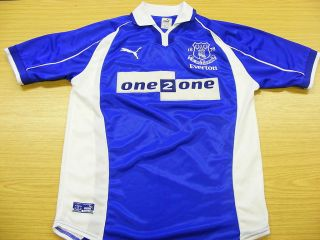 Everton 2000 2002 Home Puma Football Soccer Shirt Jersey Top Small