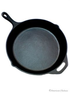 New Heavy Extra Large 13 Black Cast Iron Fry Frying Skillet Sautee