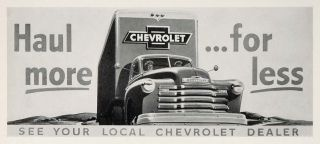 Chevrolet Chevy Truck Ad Campbell Ewald Original Historic Image