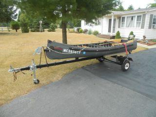 12 foot Radisson Boat Canoe trailer Evinrude 1 5 horse motor Ultimate