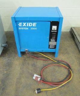 EXIDE FORKLIFT BATTERY CHARGER SYSTEM 3000 L A 8HRS A H 850 36V ES3 18