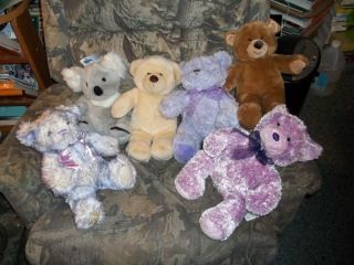 Box 5 Build A Bear Lot of 6 Purple Bears Nikki Koala