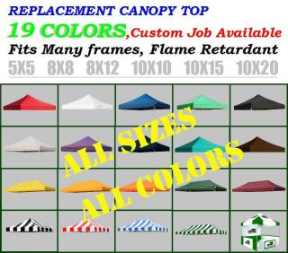 New EZ Pop Up Replacement Instant Canopy Gazebo Tent Top Cover Choose