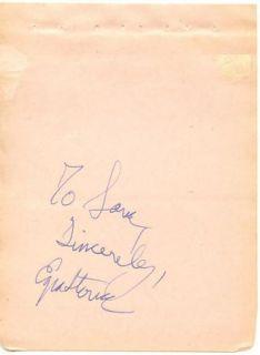 Ezra Stone Vintage 1930s Original Signed Album Page Autographed