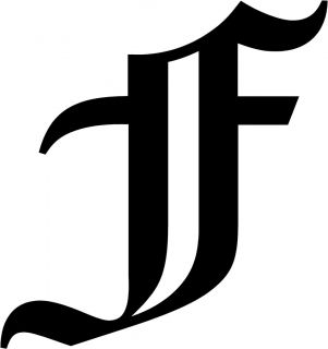 Old English Letter F Initial Decal 5 75 Choose Color