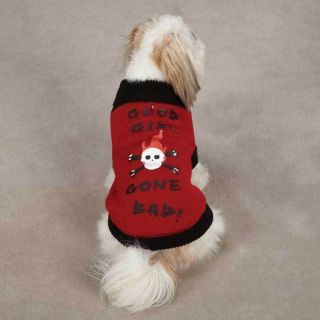 Skull Crossbones Pet Sweater Good Girl Gone Bad Dog Sweater