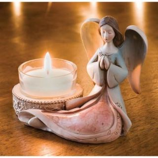 REVERENT ANGEL TEALIGHT HOLDER Art Figurine Candleholder NEW