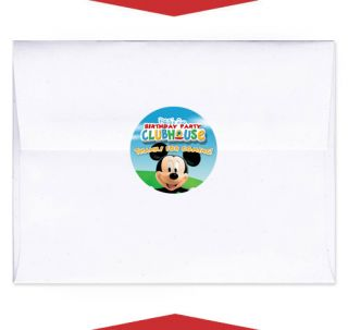 24 Mickey Birthday Party Invite Envelope Seals