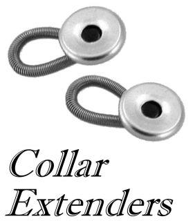 12 Shirt Neck Tie Collar Extenders 2 Metal 10 Plastic