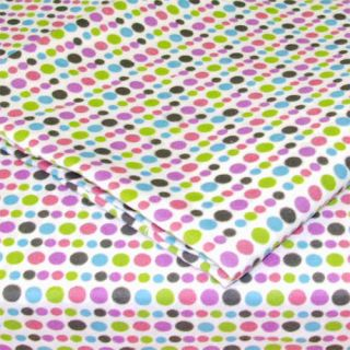 Dots Extra Long Bright Colorful Bedding Twin Sheet Set