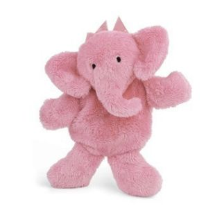 North American Bear Flatso Flatophant Pink Elephant Plush Baby Rattle