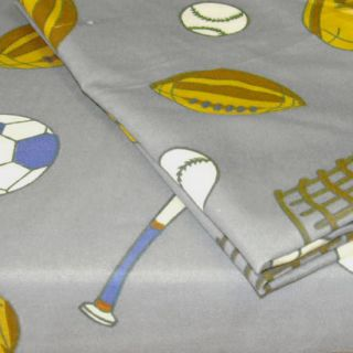 New 3pc American Sports Extra Long Twin Sheet Set Football Deep Pocket