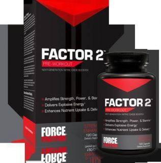 Force Factor 2 Pre Workout Dietary Supplement 120 Capsules