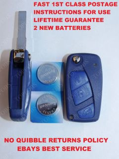 Fiat Punto Stilo Idea New 3 Button Remote Key Fob Case Flip Out Key