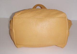 New The Sak Soft Yellow Leather Large Fernwood Tote Bag