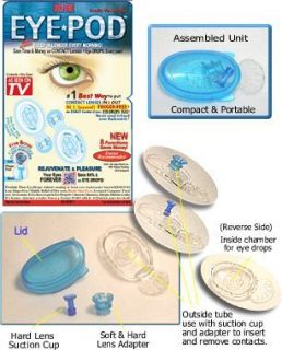 Eye Pod Put In Remove Contact Lenses single Eye Drops Finger Free fast