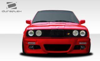 BMW 3 Series E30 M3 E46 Look Front Bumper Duraflex Fiberglass