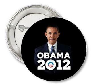 President BARACK OBAMA Photo 2012 Election Campaign LOGO Pinback