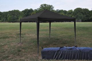 New Black 10x10 EZ Pop Up Canopy Gazebo Party Tent