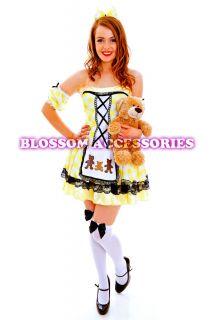 G60 Ladies Goldilocks Fairy Tale Storybook Fancy Dress Halloween