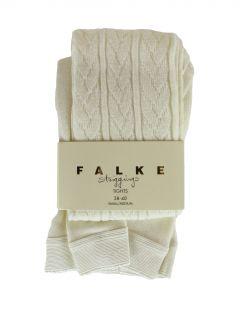 Falke Womens Ivory Striggings 48449 Cable Knit Tights SM $52 New