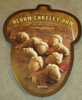 Sonoma Nordic Ware Acorn Cake Cakelet Pan Thanksgiving Fall New