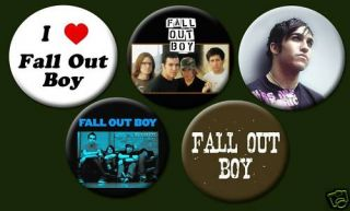 Fall Out Boy Punk Emo Rock Pete Wentz 1 Buttons Pins