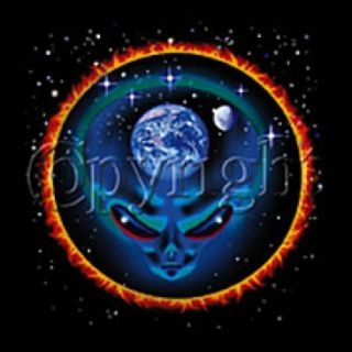 730B Alien Heat Transfer T Shirt Fabric Iron on Print