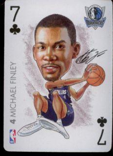 MICHAEL FINLEY   Dallas Mavericks   NBA Playing Card   2004 BIG HEAD