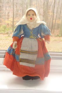Eros SARDEGNA Vintage Costume Ethnic Doll Of Italy 9 Florence