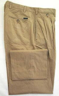 Faconnable Mens Classic Stretch Twill Khaki Dress Pants Slacks 36x31