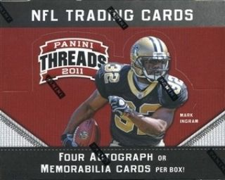 Panini Threads Football Unopened Factory Sealed Hobby Box (24 Packs