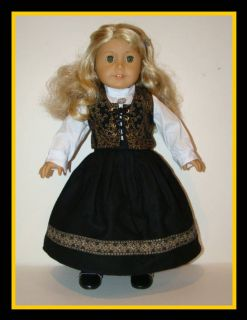 Doll Clothes Fancy Dirndl Set Fits American Girl Kirsten