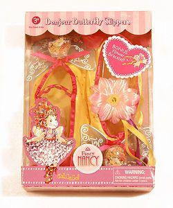 FANCY NANCY Dress Up Slippers Shoes BONJOUR BUTTERFLY flower bracelet