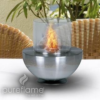 Pureflame Spherical Glass Personal Bio Fuel Fireplace SGF001